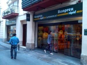 Bon Preu Supermarket - Sitges most central large supermarket