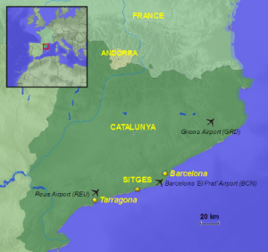 Sitges Map