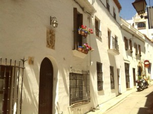 The white washed walls of old Sitges village