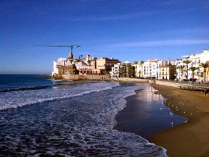 Sant Sebastia Beach losing sand